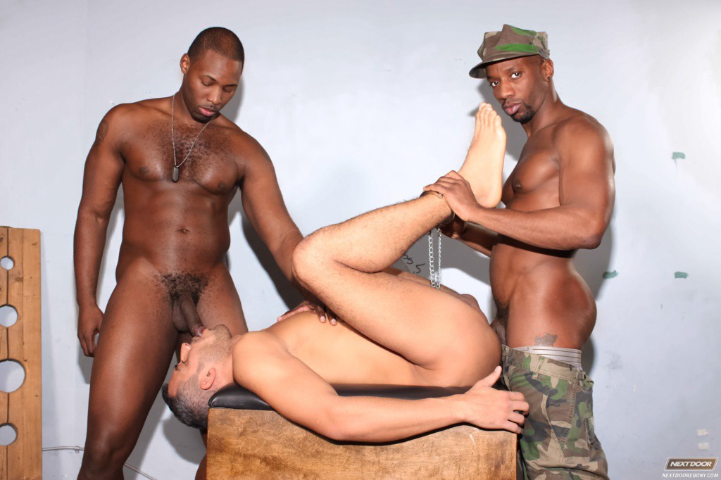 gay black man jerking off