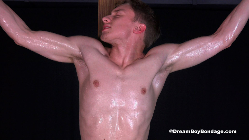 Crucified men bondage gay hot wax is poured 4