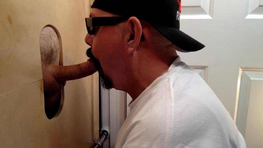 Licking naked ass