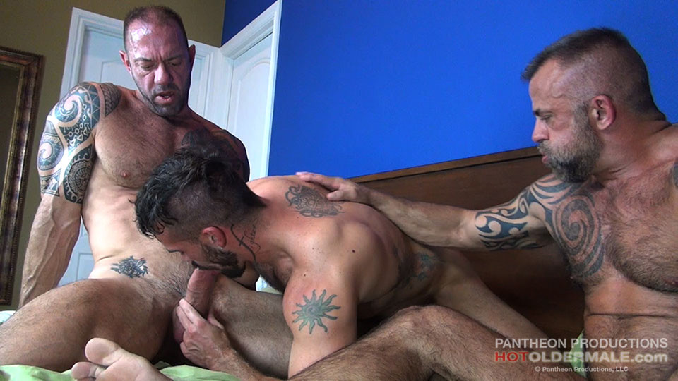 Vic Rocco, Jon Galt And Aarin Asker At Hot Older Male -8140