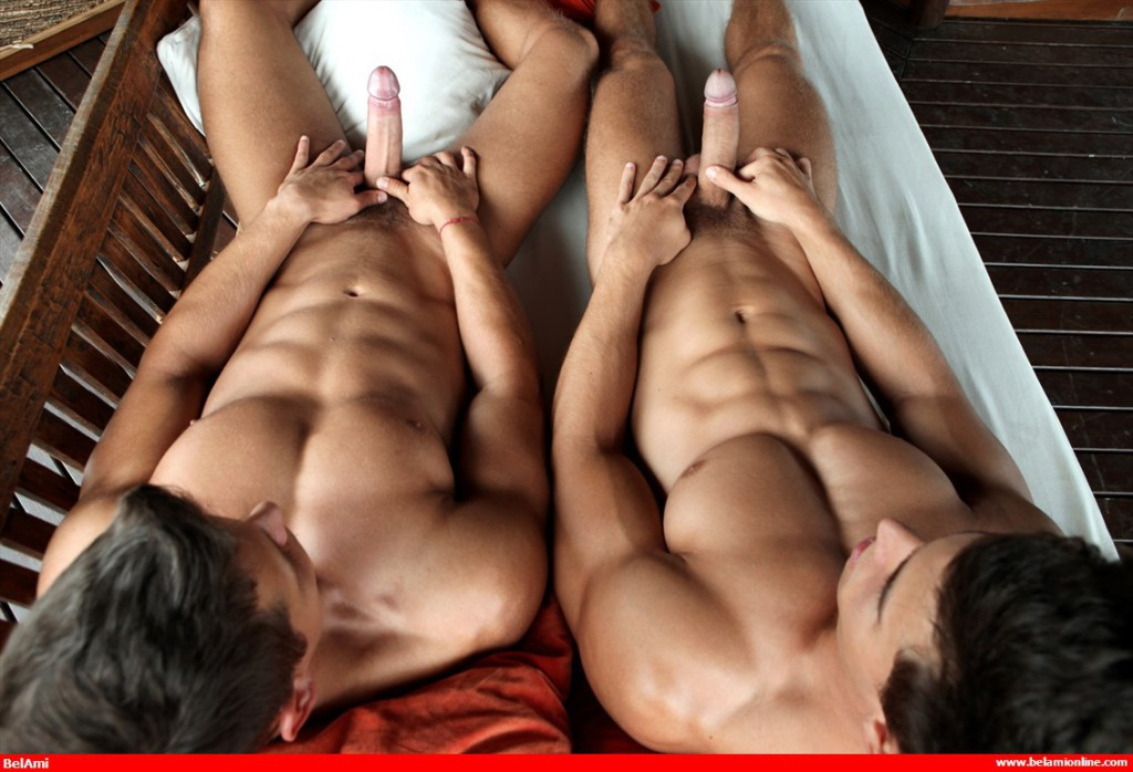 Kris Evans And Rhys Jagger At Bel Ami - Gaydemon-8436