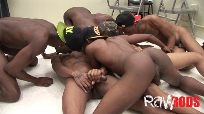 Black gay guys orgy