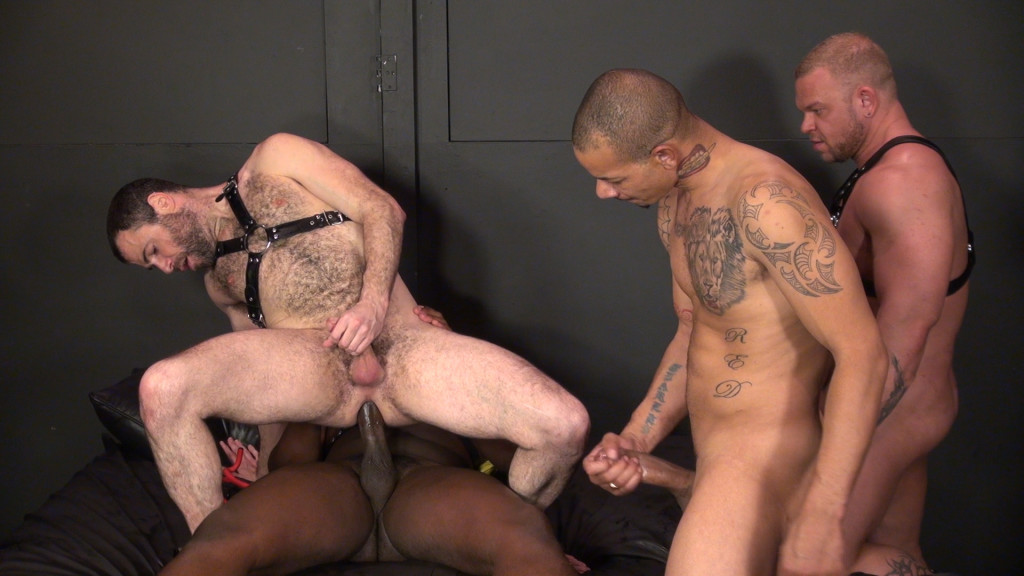 Riding huge bam dildo in the asshole - 3 part 3