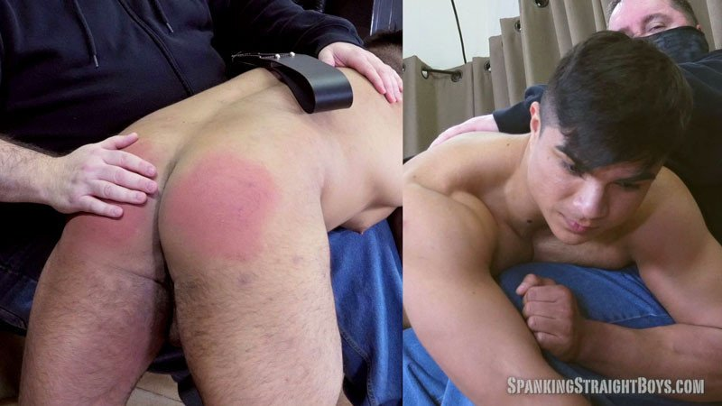 latino straight boy gets his beefy ass spanked - GayDemon