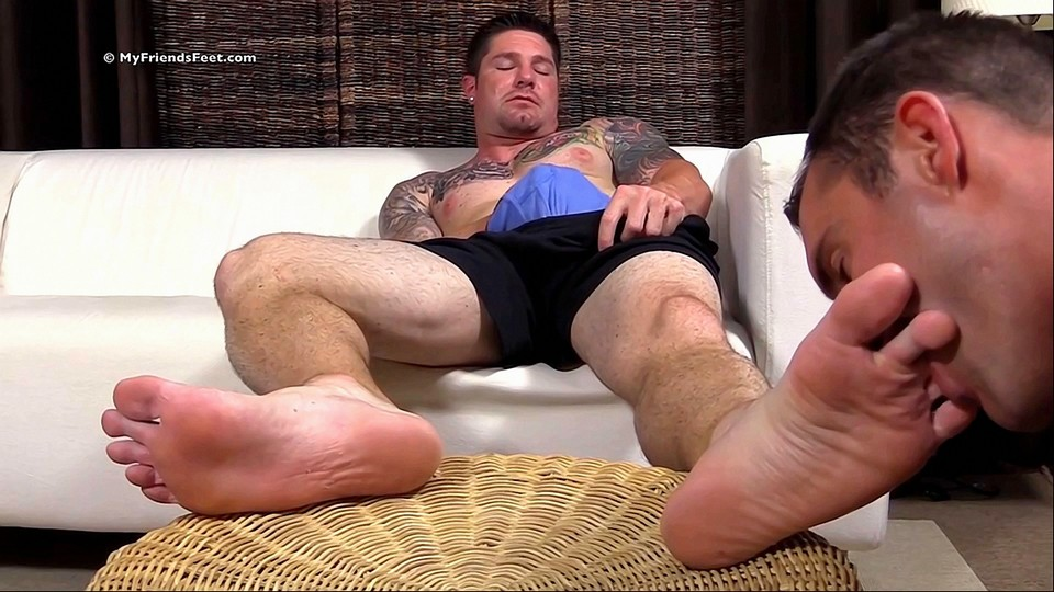 Big Burly Hunk Gets Foot Worship - Gaydemon-6671