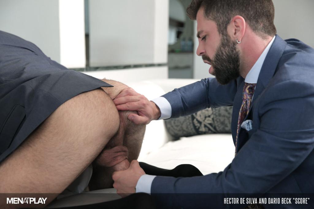 Hairy gay butt