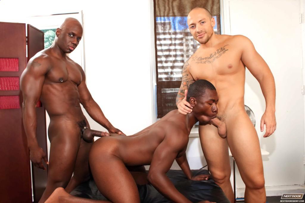 Ebony bareback gay porn