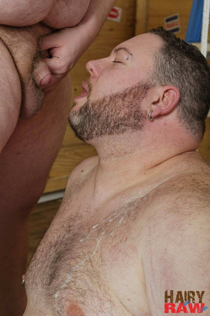 Fat gay men barebacking