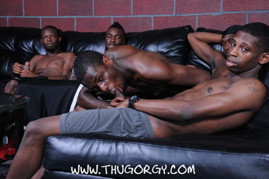 noir gay Thug orgie
