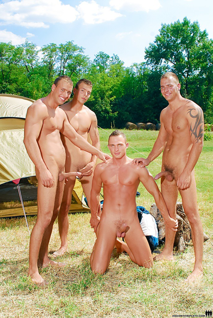 5 Campers Fucking Outside Their Tent - Gaydemon-1048