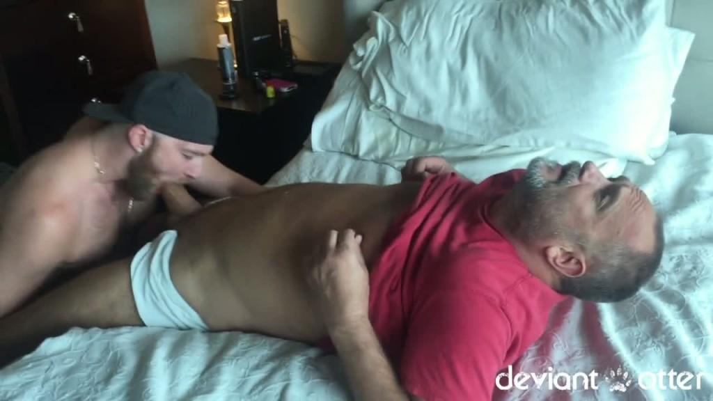 Black and white guys having sex