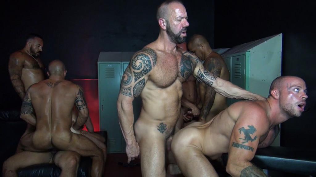 Gay sex club orgy