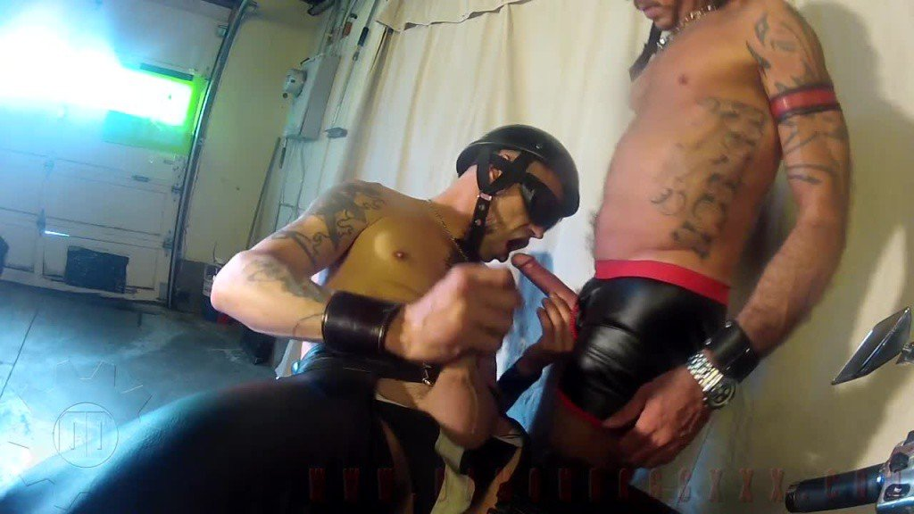 Leather gay fuck