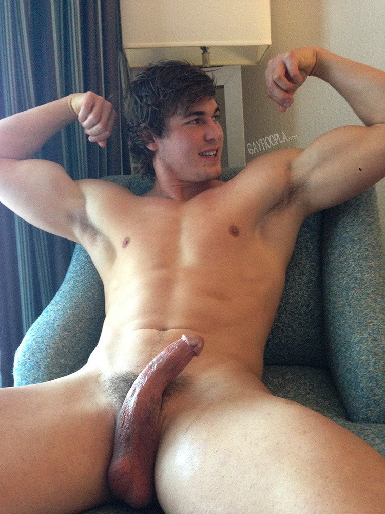 Handsome Blond Jock Jacking His Bone - Gaydemon-8976