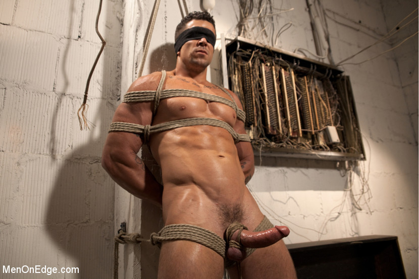 Muscular Hunk Edged And Dominated