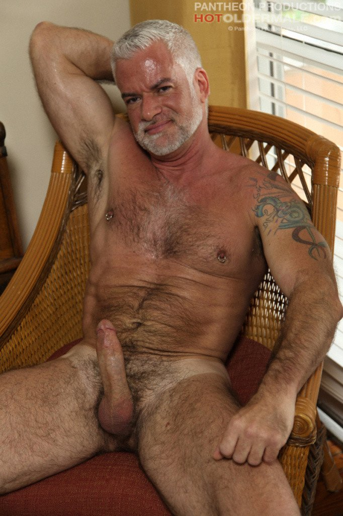 Grey Daddy Jacking His Dick - Gaydemon-5532