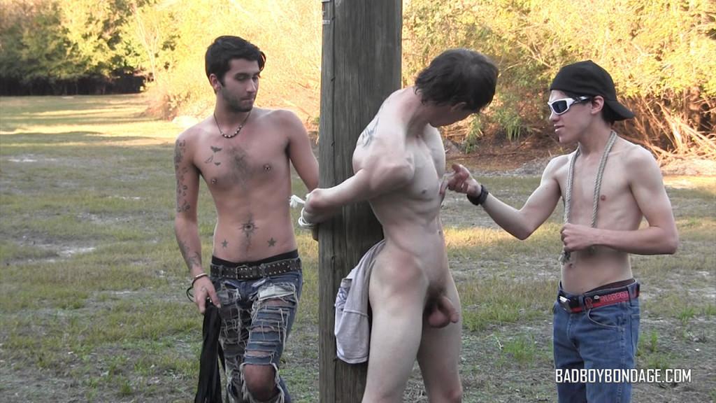 Helpless Lad Damien Rage At Bad Boy Bondage - Gaydemon-6609