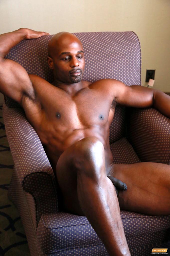 Black clip ebony gay male