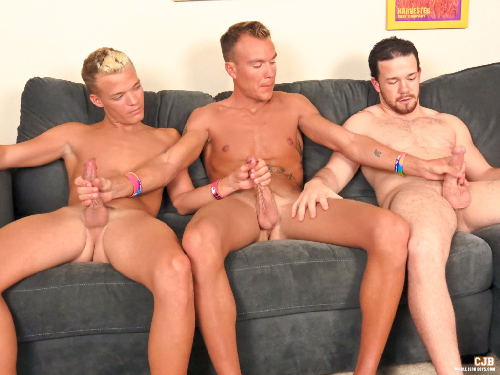 Bisexual circle jerk