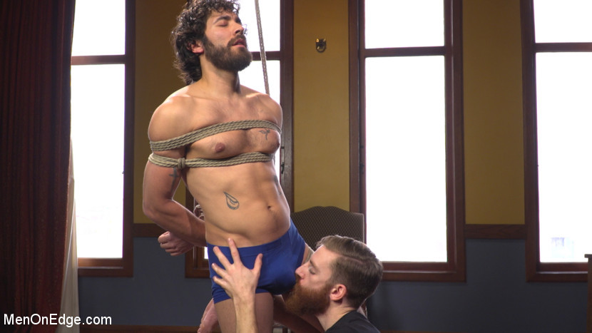 Filthy French Guy Edging With Cockring