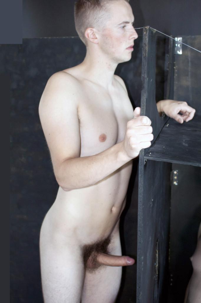 Nude in an elevator