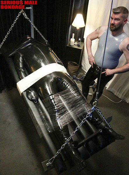 Rubber Slave Submits To Extreme Bondage - Gaydemon-4156