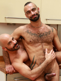 Video: bald daddies fucking in kitchen