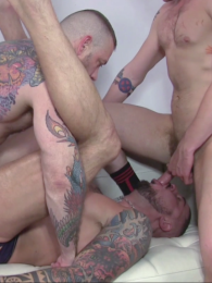 Video: Luke Thomas and Blue Bailey bare fuck Dolf Dietrich