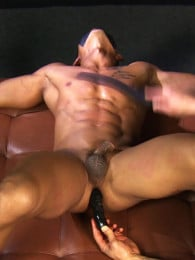 Video: muscle boy tied down and dildo fucked
