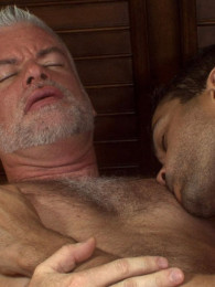 Video: grey-haired daddy fucked by younger guy