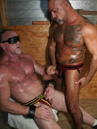 Video: blindfolded and bound daddy get sucked off