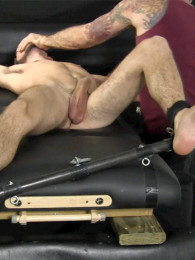 Video: JC gets his cock deep-throated during a tickling session