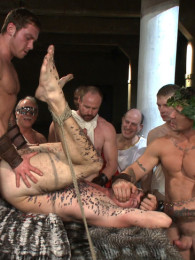 Video: Trenton Ducati and Connor Maguire lead gladiator gang bang