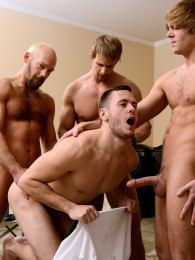 Video: Brenner Bolton, Cameron Foster, Mike Tanner and Morgan Shades at men.com