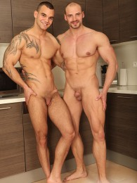 Video: handsome hunks fuck in the kitchen