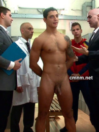 Video: star footballer gets locker room exam